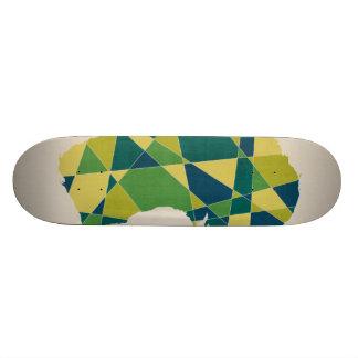 Australia Geometric Retro Map Skate Board