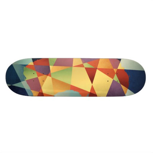 Australia Geometric Retro Map Skate Board Decks