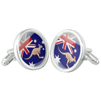 Australia glossy flag cufflinks