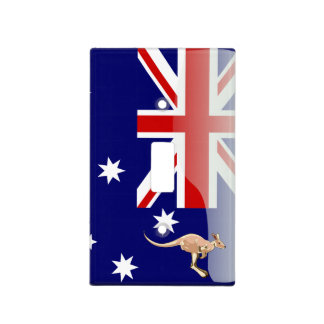 Australia glossy flag light switch cover