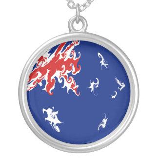 Australia Gnarly Flag Round Pendant Necklace