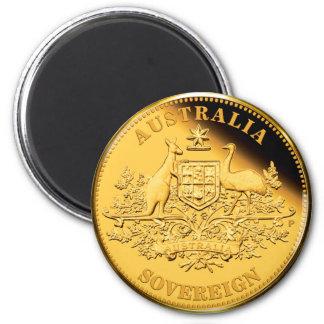 Australia Gold Sovereign 2 Inch Round Magnet