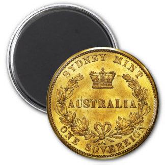 Australia Gold Sovereign Vintage Magnet