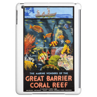Australia Great Barrier Coral Reef Vintage Poster iPad Air Cover