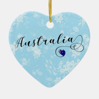 Australia Heart, Christmas Tree Ornament