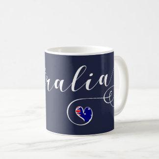 Australia Heart Mug, Australian Flag Coffee Mug