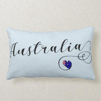 Australia Heart Throw Cushion, Australian Lumbar Pillow