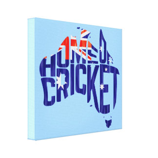 Australia Home of Cricket Calligram Stretched Canvas Prints