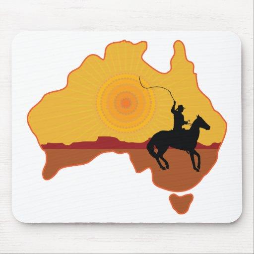 Australia Horseman Mousepad