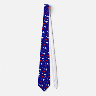 Australia Kangaroo and Cross Design mens Tie