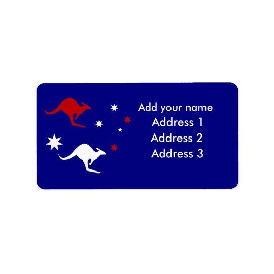 Australia Kangaroo and Southern Cross design