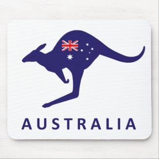 AUSTRALIA KANGAROO FLAG MOUSE MAT