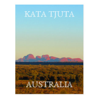 australia kata tjuta postcard
