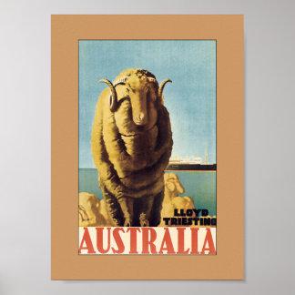 Australia - Lloyd Triestino (Border) Poster