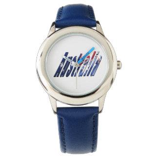 Australia Logo, Kids Blue Leather Watch