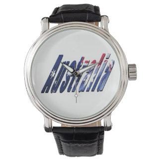 Australia Logo, Mens Leather Watch