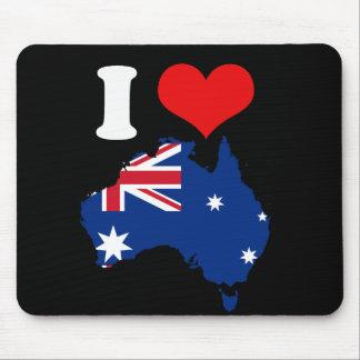 Australia Map and Flag Mousepads