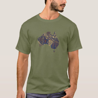 Australia Map Art Original T-Shirt