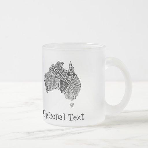 Australia Map Doodle Coffee Mug