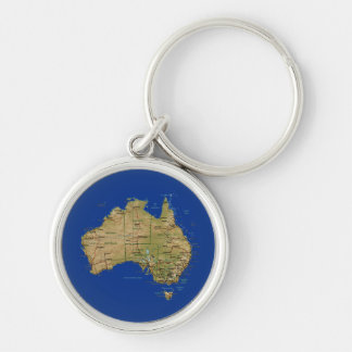 Australia Map Keychain