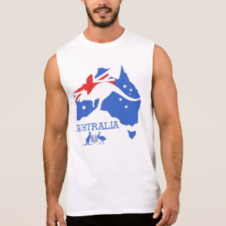 Australia Map Sleeveless Shirt