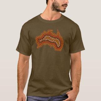 Australia Map Tribal Inspired T-Shirt