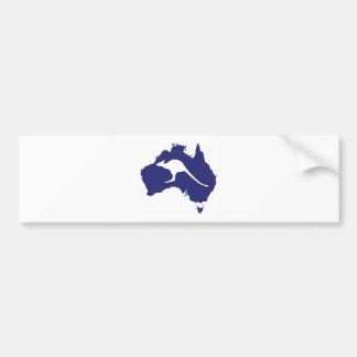 Australia Map With Kangaroo Silhouette Bumper Sticker