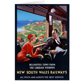 Australia New South Wales Restored Vintage Poster Card