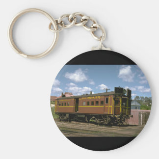 Australia, NSW Ry gas motor_Trains of the World Basic Round Button Keychain
