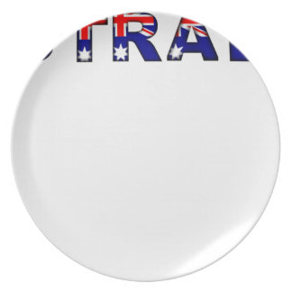 Australia Party Plate
