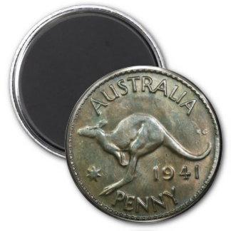 Australia Penny 1941 2 Inch Round Magnet