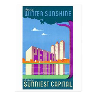 Australia Perth Restored Vintage Travel Poster Postcard