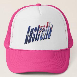 Australia Picture Logo, Pink Trucker Hat