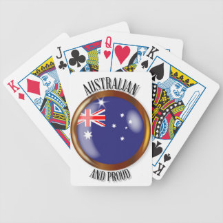 Australia Proud Flag Button Bicycle Playing Cards