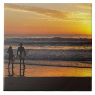 Australia, Queensland, Gold Coast, Surfers at Tile