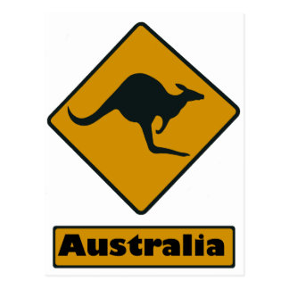 Australia Road Sign - Kangaroo Crossing Postcard