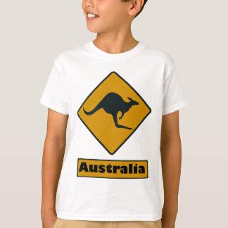 Australia Road Sign - Kangaroo Crossing T-Shirt