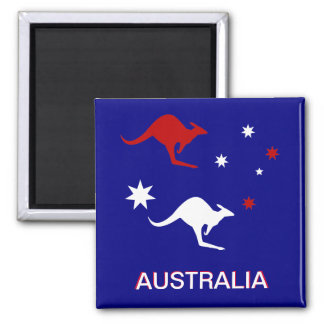 Australia Roo and Cross Fridge Magnet
