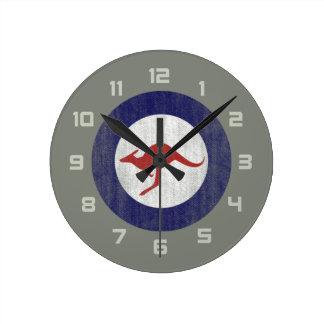 Australia roundel round clock