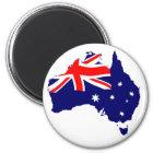 Australia Shape Flag Magnet