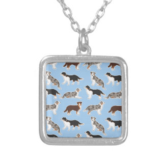 Australia Shepherd Silver Plated Necklace