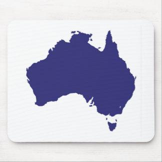 Australia Silhouette Mouse Pad