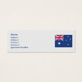 Australia - Skinny Mini Business Card