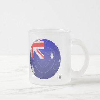 Australia - Socceroos Football Frosted Glass Coffee Mug