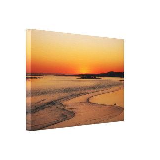 Australia Sunset Glow Canvas Print