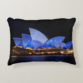 Australia Sydney Opera House At Night Accent Pillow
