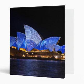 Australia Sydney Opera House At Night Binders
