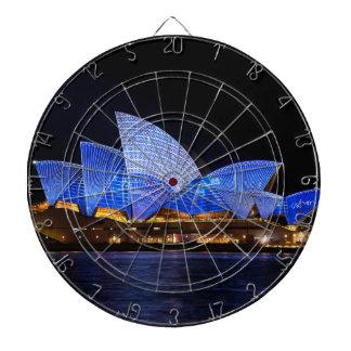 Australia Sydney Opera House At Night Dartboard