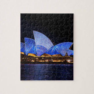 Australia Sydney Opera House At Night Jigsaw Puzzle