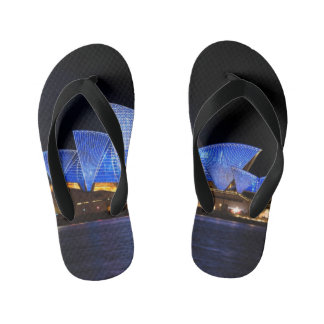 Australia Sydney Opera House At Night Kid's Flip Flops